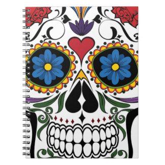 Colorful Sugar Skull Notebook