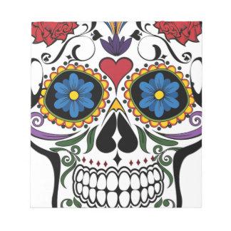 Colorful Sugar Skull Notepad