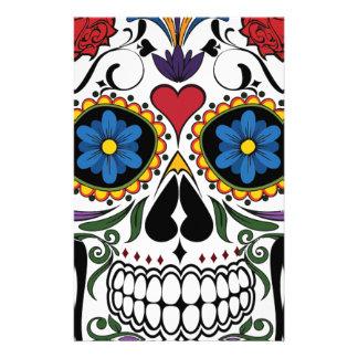 Colorful Sugar Skull Stationery