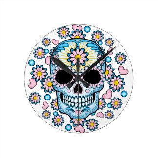 Colorful Sugar Skull Wall Clocks
