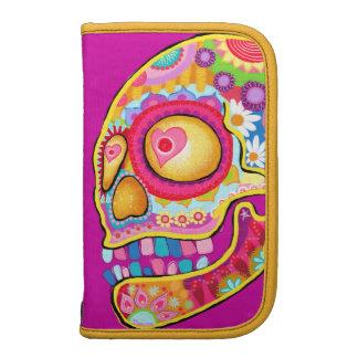 Colorful Sugar Skulls Art Folio Smartphone Organizers