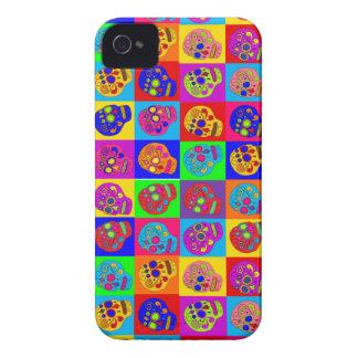 Colorful Sugar Skulls iPhone 4 Cases