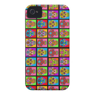 Colorful Sugar Skulls iPhone 4 Case-Mate Case