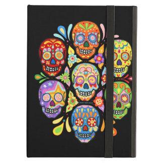 Colorful Sugar Skulls iPad Case with Kickstand