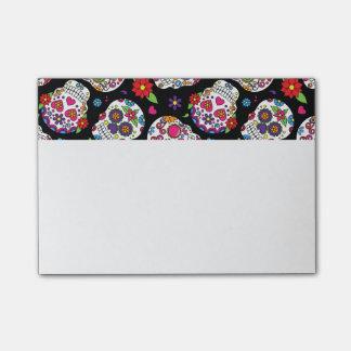 Colorful Sugar Skulls On Black Post-it® Notes