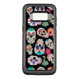 Colorful Sugar Skulls Pattern OtterBox Commuter Samsung Galaxy S8 Case
