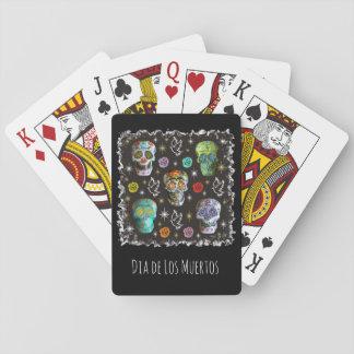 Colorful Sugar Skulls Playing Cards