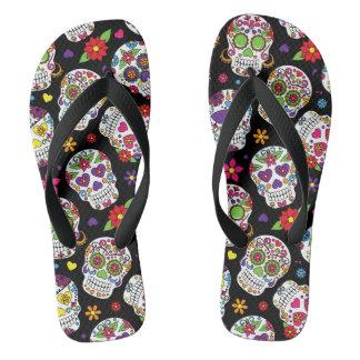 Colorful Sugar Skulls Thongs