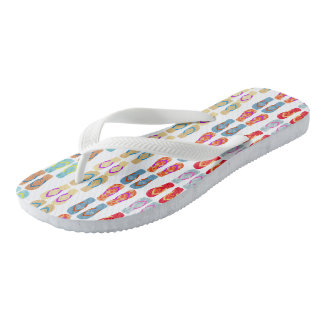 Colorful  Summer Beach Flip Flops Pattern Sandals