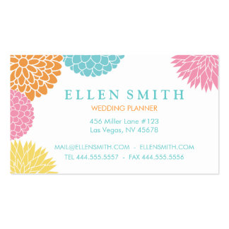 Colorful Summer Blossoms Business Card