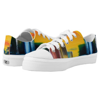 Colorful Summer City Printed Shoes