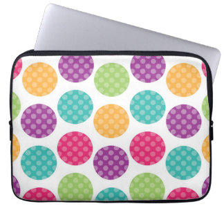 Colorful Summer Dots Pattern Laptop Sleeve