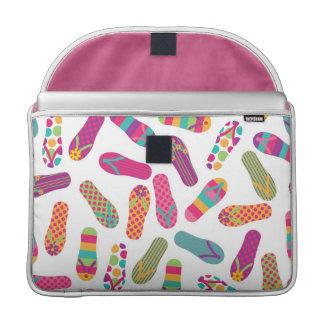 Colorful Summer Flip Flop Sandals Pattern MacBook Pro Sleeve