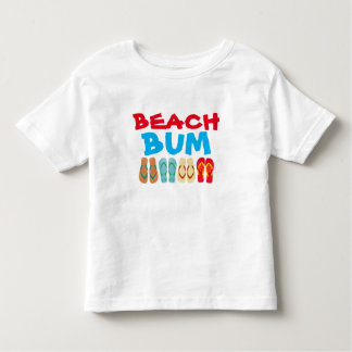 Colorful Summer Flip Flops Beach Bum Kids T Shirt