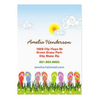 Colorful Summer Flip Flops Fun In The Sun Garden Business Card