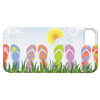 Colorful Summer Flip Flops Fun In The Sun Garden iPhone 5 Cases