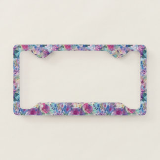 Colorful Summer Flowers Collage Licence Plate Frame