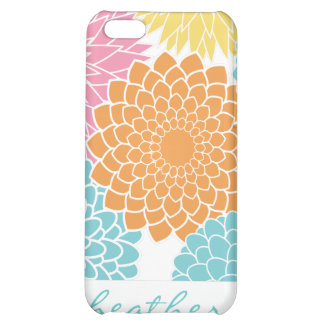 Colorful Summer Flowers Pattern iPhone 5C Covers