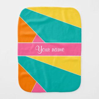 Colorful Summer Geometric Pattern Baby Burp Cloths