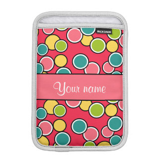Colorful Summer Polka Dots Personalized iPad Mini Sleeves
