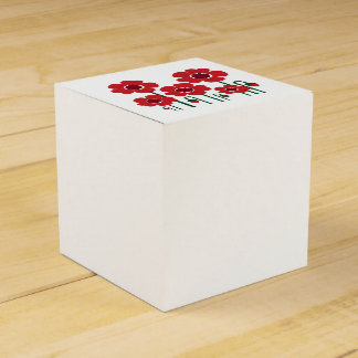 Colorful summer wedding : RED Edition Party Favour Boxes