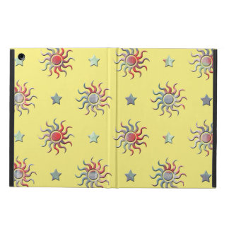 Colorful sun and stars design cover for iPad air