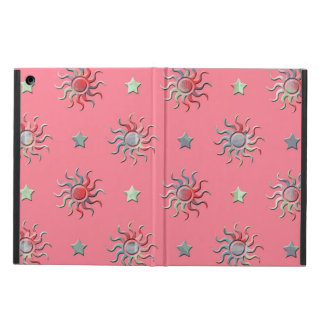 Colorful sun and stars design iPad air cases