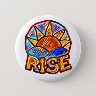 Colorful Sun Rise ~ Uplifting Message 6 Cm Round Badge