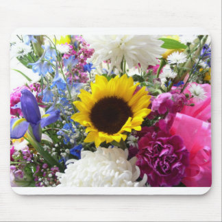 Colorful Sunflower bouquet Mouse Pad