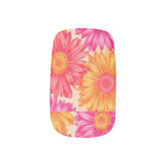 Colorful Sunflower Nail Art