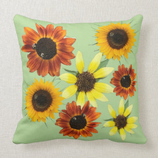 Colorful Sunflowers Flowers Photos Pillows