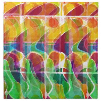 Colorful sunrise napkin