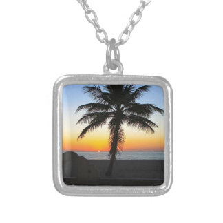 Colorful Sunrise Silver Plated Necklace