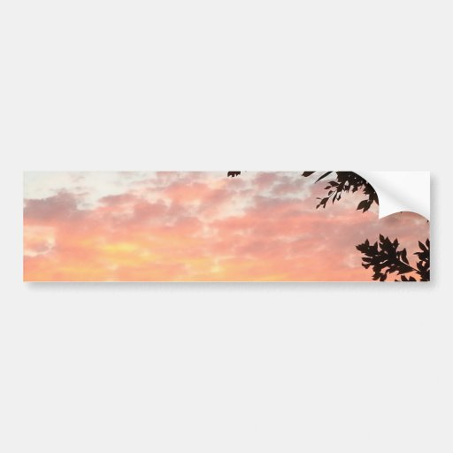 Colorful Sunset Bumper Stickers