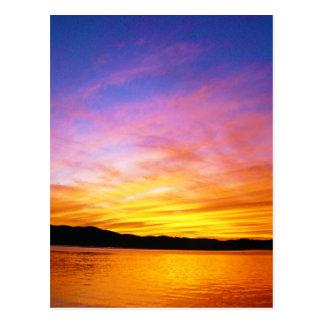 Colorful Sunset Knysna South Africa Postcard