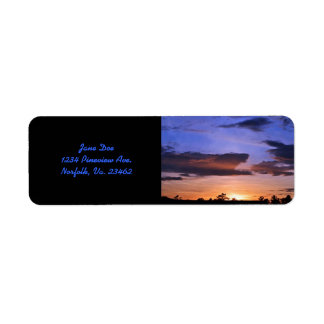 Colorful Sunset Return Address Label