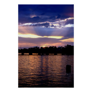 Colorful Sunset over Lake Pontchartrain Poster