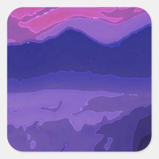 Colorful Sunset Square Sticker