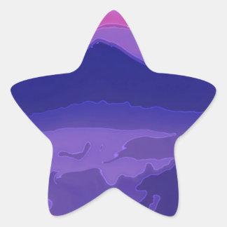 Colorful Sunset Star Sticker