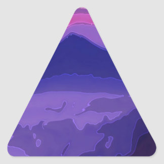 Colorful Sunset Triangle Stickers