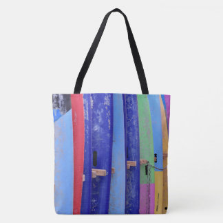 Colorful Surfboards Tote Bag