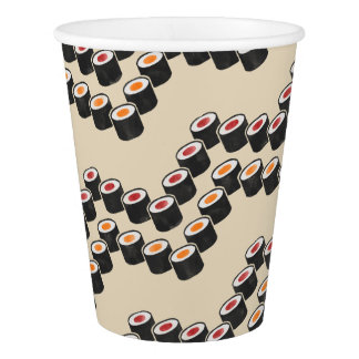 Colorful Sushi Chevron Paper Cup