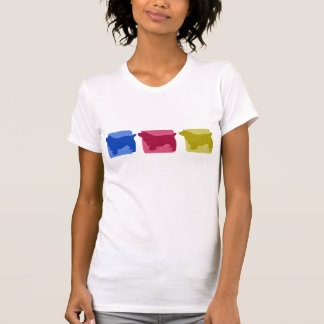 Colorful Sussex Spaniel Silhouettes T-Shirt