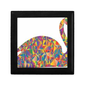 colorful swan gift box