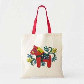 Colorful Swedish Dala Horse Tote Bag