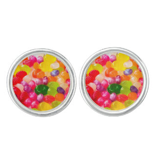 Colorful Sweet Candies Food Lollipop Cufflinks
