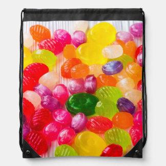 Colorful Sweet Candies Food Lollipop Drawstring Bag