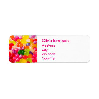 Colorful Sweet Candies Food Lollipop Return Address Label