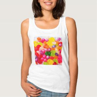 Colorful Sweet Candies Food Lollipop Singlet