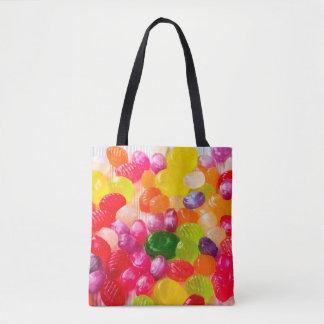 Colorful Sweet Candies Food Lollipop Tote Bag